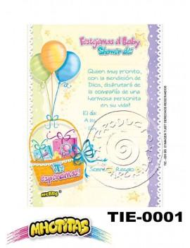 TARJETA DE INVITACION ESCARCHADA PEQUEÑA X12 UND. Ref. TIB*1